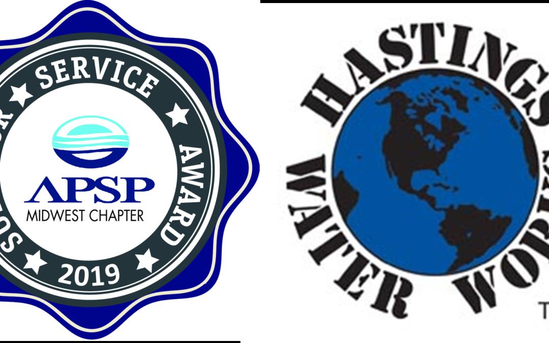 Hastings Water Works Named 2019 Superior Service Award Winner